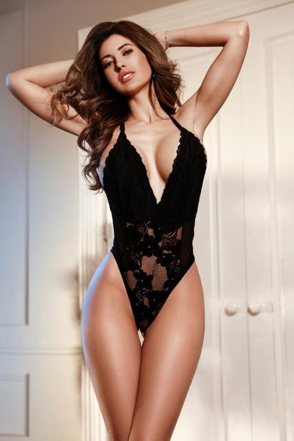 Top Agency Escort Gigi in her black lingerie set